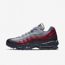Nike Air Max 95 Lifestyle Shoes For Men Dark Grey/Red/Grey 749766-025