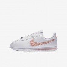 Nike Cortez Lifestyle Shoes For Girls White/Pink/Coral AH7528-102