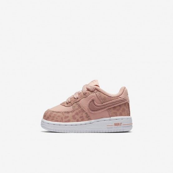 Nike Air Force 1 Lifestyle Shoes Girls Coral Stardust/White/Rust Pink AH7530-600