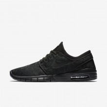 Nike SB Stefan Janoski Max Skateboard Shoes For Men Black/Dark Grey/Black 631303-099