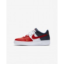 Nike Air Force 1 Lifestyle Shoes For Boys Red/Navy/Gold/Red 820438-603