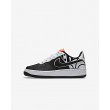 Nike Air Force 1 Lifestyle Shoes For Boys Black/White/Black 820438-014