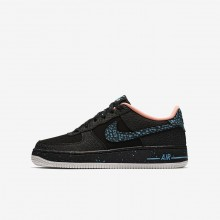 Nike Air Force 1 Lifestyle Shoes For Boys Black/Red/White AJ4234-002