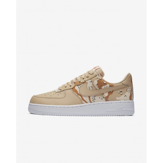 Nike Air Force 1 Lifestyle Shoes For Men Beige/Orange/Beige 823511-202