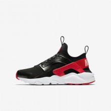Nike Air Huarache Lifestyle Shoes For Girls Black/Coral/Red AO1030-001