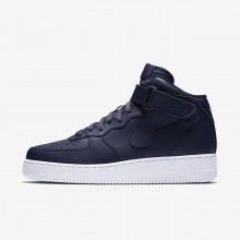 Nike Air Force 1 Lifestyle Shoes Mens Obsidian/White/Obsidian 315123-415