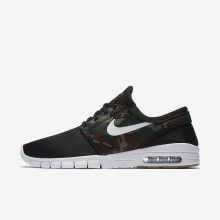 Nike SB Stefan Janoski Max Skateboard Shoes For Men Black/Olive/Light Brown/White 631303-021