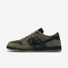 Nike SB Dunk Low Pro Skateboard Shoes For Men Olive/Light Brown/Gold/Black 854866-209