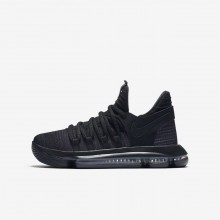 Nike Zoom KDX Basketball Shoes For Boys Black/Dark Grey/Black 918365-004