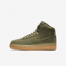 Nike Air Force 1 Lifestyle Shoes For Boys Olive/Light Brown/Black/Olive 922066-202