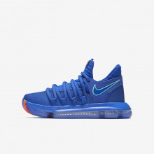 Nike Zoom KDX Basketball Shoes For Boys Blue/Black/Red 918365-402