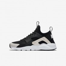 Nike Air Huarache Ultra Lifestyle Shoes For Boys Black/White/Rose 847568-010