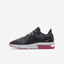 Nike Air Max Sequent 3 Running Shoes For Girls Black/Dark Grey/Pink 922885-001