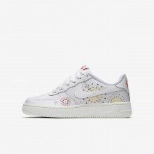 Nike Air Force 1 Lifestyle Shoes For Boys White/Red/Green/White AJ4234-100