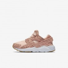 Nike Huarache Lifestyle Shoes For Girls Coral/Light Brown/White/Pink 859591-603