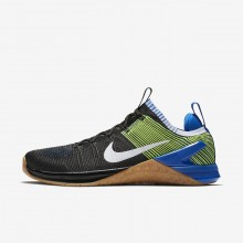 Nike Metcon DSX Flyknit 2 Training Shoes For Men Black/Blue/White 924423-006