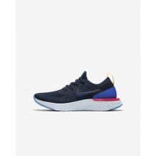 Nike Epic React Flyknit Running Shoes For Boys Navy/Blue/Pink/Navy 943311-400