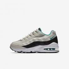 Nike Air Max 95 Lifestyle Shoes For Boys Black/White/Turquoise 905348-012