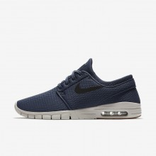 Nike SB Stefan Janoski Max Skateboard Shoes For Men Blue/Brown/Black 631303-402