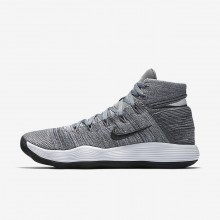 Nike React Hyperdunk 2017 Flyknit Basketball Shoes Womens Cool Grey/Pure Platinum/White/Anthracite 917726-007