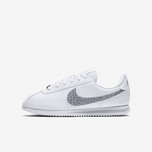 Nike Cortez Lifestyle Shoes For Girls White/Grey AH7528-100