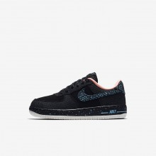 Nike Air Force 1 Lifestyle Shoes For Boys Black/Red/White AJ4675-002