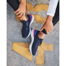 Nike Epic React Flyknit Running Shoes For Women Navy/Blue/Pink/Navy AQ0070-400