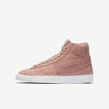 Nike Blazer Mid Lifestyle Shoes For Girls Coral/Light Brown/White/Pink 902772-601