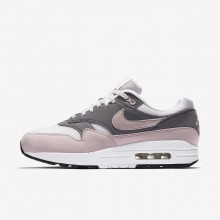 Nike Air Max 1 Lifestyle Shoes For Women Grey/Black/Rose 319986-032