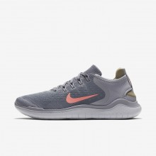 Nike Free RN 2018 Running Shoes For Women Grey/Red 942837-005