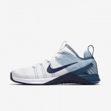 Nike Metcon DSX Flyknit 2 Training Shoes For Women White/Blue/Navy 924595-101