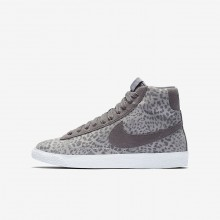 Nike Blazer Mid Lifestyle Shoes For Girls Grey/Light Brown/White 902772-004