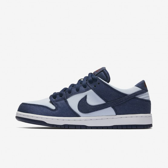 Nike SB Dunk Low Pro Skateboard Shoes For Men Blue/Dark Red/Blue 854866-444
