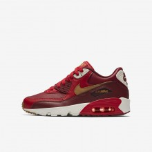 Nike Air Max 90 Lifestyle Shoes Boys Game Red/Team Red/Sail/Elemental Gold 833412-602