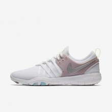 Nike Free TR Training Shoes For Women White/Rose/Metallic Silver 904651-102