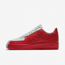 Nike Air Force 1 Lifestyle Shoes Mens Barely Grey/Barely Grey/Habanero Red 905345-005