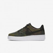Nike Air Force 1 Lifestyle Shoes For Boys Olive/Brown/Black 820438-204