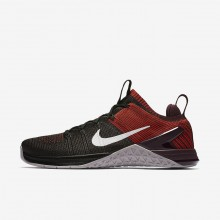 Nike Metcon DSX Flyknit 2 Training Shoes For Men Black/Red/Grey 924423-002