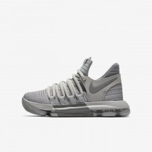 Nike Zoom KDX Basketball Shoes For Boys Grey 918365-007
