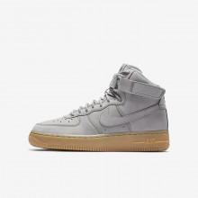 Nike Air Force 1 Lifestyle Shoes For Boys Grey/Black/Light Brown/Grey 922066-002