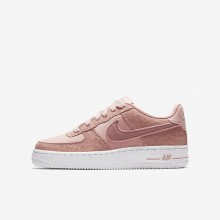 Nike Air Force 1 Lifestyle Shoes For Girls Coral/White/Pink 849345-600