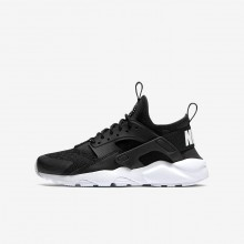 Nike Air Huarache Ultra Lifestyle Shoes For Boys Black/White 847569-020