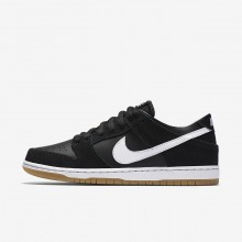 Nike SB Dunk Low Pro Skateboard Shoes For Men Black/Light Brown/White 854866-019
