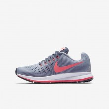 Nike Zoom Running Shoes Girls Provence Purple/Light Carbon/Black/Solar Red 881954-501