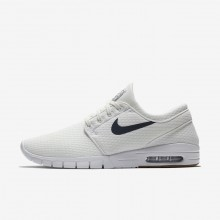 Nike SB Stefan Janoski Max Skateboard Shoes For Men White/Brown/White/Blue 631303-103