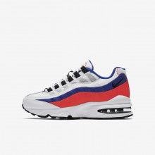 Nike Air Max 95 Lifestyle Shoes For Boys White/Red/Black 905348-103