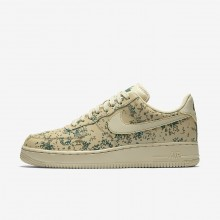 Nike Air Force 1 Lifestyle Shoes For Men Gold Beige/Green/Gold 823511-700