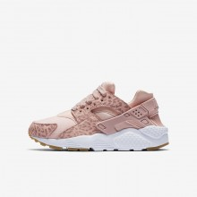 Nike Huarache Lifestyle Shoes For Girls Coral/Light Brown/White/Pink 904538-603