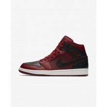 Air Jordan 1 Mid Lifestyle Shoes Mens Team Red/Summit White/Gym Red 554724-601