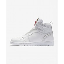 Air Jordan 1 High Zip Lifestyle Shoes For Women White/Red/White AQ3742-116